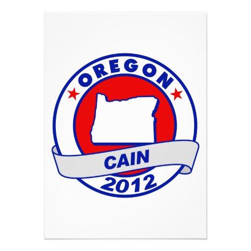 Cain - Oregon Personalized Invitations