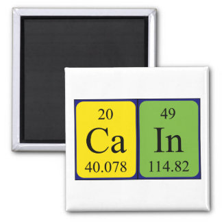Cain periodic table name magnet