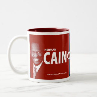 CAIN vs UNABLE Herman Cain 2012 Coffee Mug