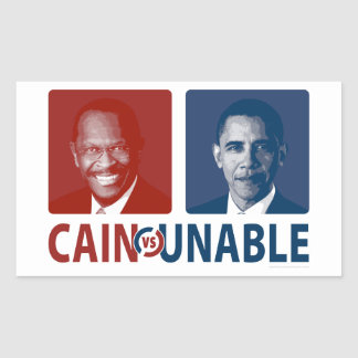 Cain Vs Unable Rectangular Sticker