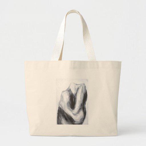 Caín y Abel 2 (surrealismo abstracto) Bolsa Lienzo