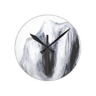 Caín y Abel 2 (surrealismo abstracto) Reloj Redondo Mediano