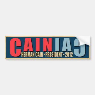 CAINiac para Herman Caín Pegatina Para Auto