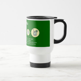 caipirinha, brazilian drink travel mug
