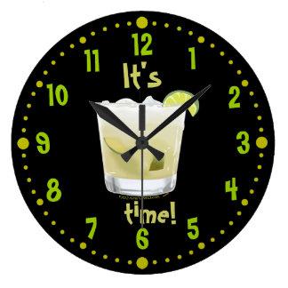 Caipirinha Time Brazilian Coctail Clock W/ Minutes