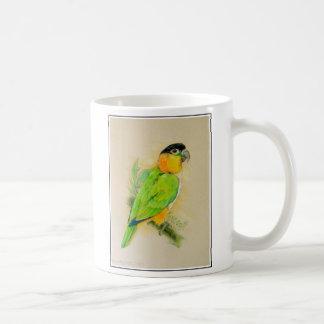 caique black headed coffee mug