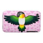 Caique/Lovebird/Pionus/amor del loro iPhone 3 Case-Mate Cobertura
