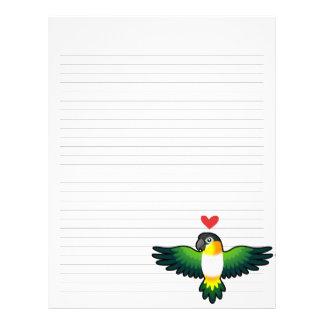 Caique/Lovebird/Pionus/amor del loro Plantillas De Membrete