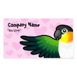 Caique/Lovebird/Pionus/amor del loro Tarjetas De Visita