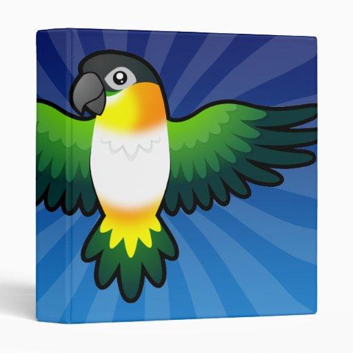 Caique/Lovebird/Pionus/loro del dibujo animado