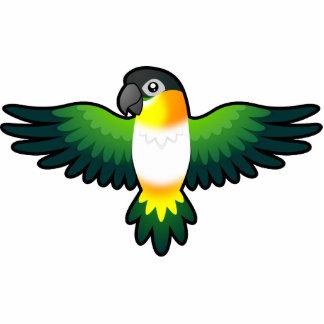 Caique/Lovebird/Pionus/loro del dibujo animado Imán Fotoescultura