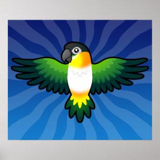 Caique/Lovebird/Pionus/loro del dibujo animado Impresiones