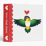 Caique / Lovebird / Pionus / Parrot Love 3 Ring Binders