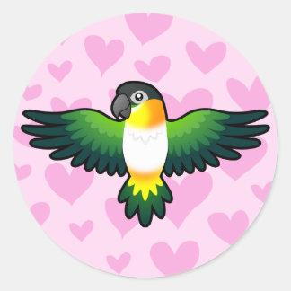Caique / Lovebird / Pionus / Parrot Love Classic Round Sticker