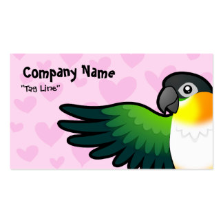 Caique / Lovebird / Pionus / Parrot Love Double-Sided Standard Business Cards (Pack Of 100)