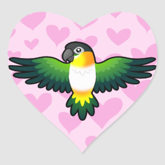 Caique / Lovebird / Pionus / Parrot Love Heart Sticker