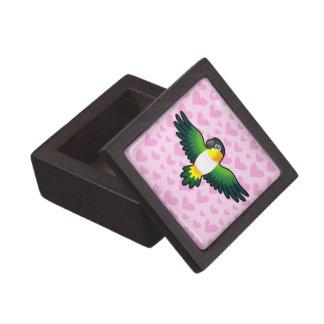 Caique / Lovebird / Pionus / Parrot Love Keepsake Box