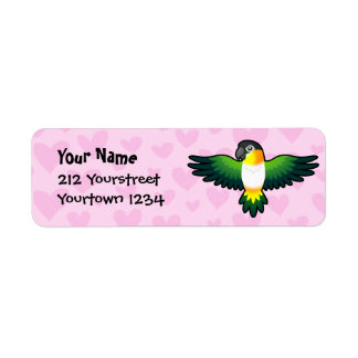 Caique / Lovebird / Pionus / Parrot Love Return Address Label