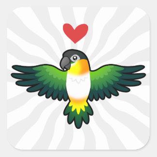 Caique / Lovebird / Pionus / Parrot Love Square Sticker