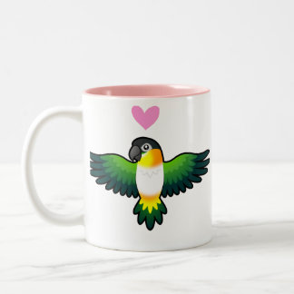 Caique / Lovebird / Pionus / Parrot Love Two-Tone Coffee Mug