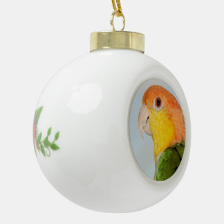 Caique Parrot Ceramic Christmas Ball Ornament