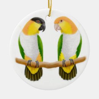 Caique Parrot Love Ornament