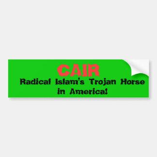¡CAIR, el Trojan Horse del Islam radical en Améric Etiqueta De Parachoque