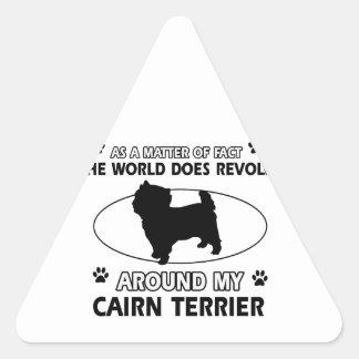 cairn dog design triangle sticker