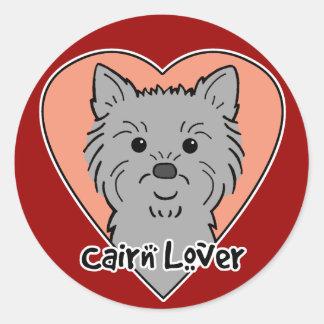 Cairn Lover Round Sticker