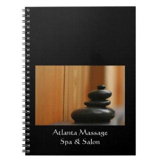 Cairn Massage Stones Photo Spiral Notebook