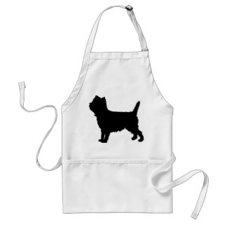cairn or Westie silhouette Adult Apron