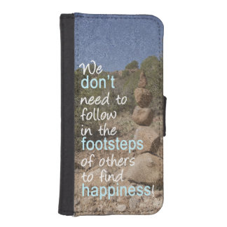 Cairn Photograph and Text Message iPhone SE/5/5s Wallet