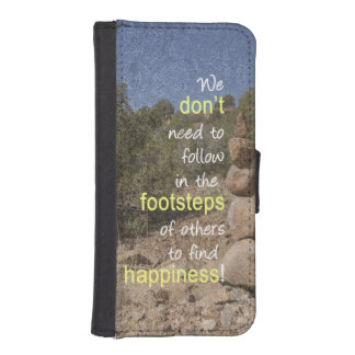 Cairn Photograph and Text Message iPhone SE/5/5s Wallet Case