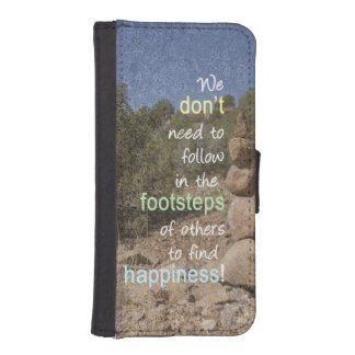 Cairn Photograph and Text Message Wallet Phone Case For iPhone SE/5/5s