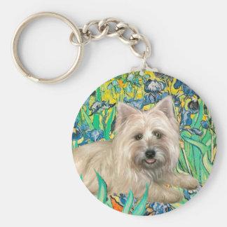 Cairn Terrier 4 - Irises Basic Round Button Keychain