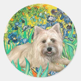Cairn Terrier 4 - Irises Classic Round Sticker