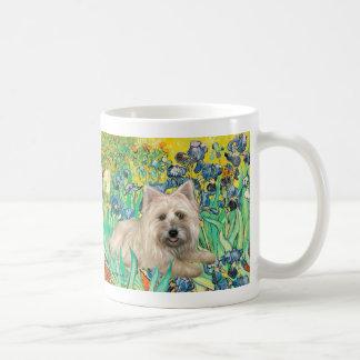 Cairn Terrier 4 - Irises Coffee Mug