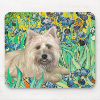 Cairn Terrier 4 - Irises Mouse Pad