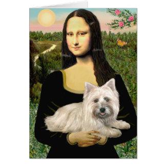 Cairn Terrier 4 - Mona Lisa Card
