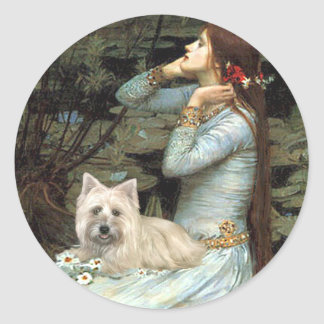 Cairn Terrier 4 - Ophelia Seated Classic Round Sticker