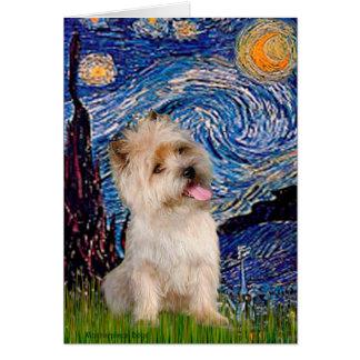 Cairn Terrier 9 - Starry Night Card