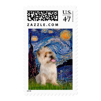 Cairn Terrier 9 - Starry Night Postage