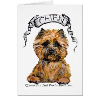 Cairn Terrier Banner Card