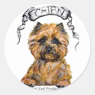 Cairn Terrier Banner Classic Round Sticker