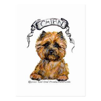 Cairn Terrier Banner Postcard
