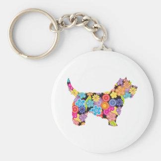Cairn Terrier Basic Round Button Keychain