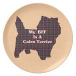 Cairn Terrier BFF Plate