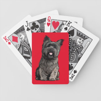 Cairn Terrier Bicycle Playing Cards