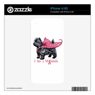 Cairn Terrier Breast Cancer iPhone 4S Decal