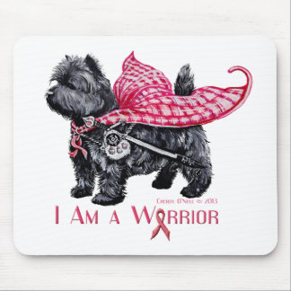 Cairn Terrier Breast Cancer Mouse Pad